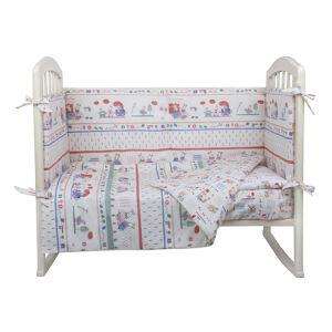 Комплект в кроватку 6 предметов Альма-Няня ПУШИСТИКИ