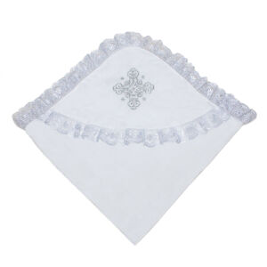 Уголок для крещения с серебряной вышивкой Осьминожка