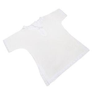 Крестильная рубашка с подрезами, рост 74, муслин, универсальная