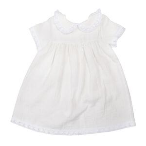 Крестильное платье с воротником и коротким рукавом рост 68, муслин, девочка