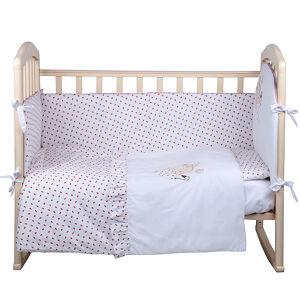 Комплект в кроватку 4 предмета Альма-Няня ЗЕМЛЯНИЧКА