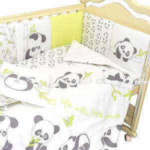 Комплект в кроватку 4 предмета L`Abeille ПАНДЫ