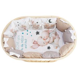 Комплект в кроватку 6 предметов Альма-Няня МАМИНА КРОХА