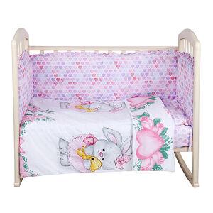 Комплект в кроватку 6 предметов Alis ЗАЙКА БАЛЕРИНА