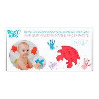 Набор мини-ковриков (5 шт.) для ванны с пальчиковыми красками (4 цвета)