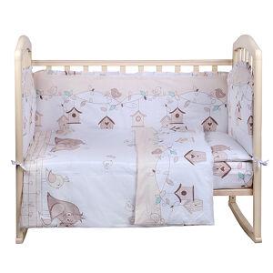Комплект в кроватку 4 предмета Alis ЛЮБЯЩИЕ ПТЕНЧИКИ