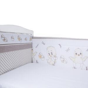 Борт в кроватку из 4-х частей Эдельвейс ЦЫПЛЯТА