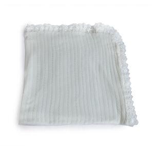 Одеяло-плед с кружевом 90*95 Осьминожка