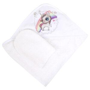 Полотенце-рукавичка для купания 100*100 Alis ЗАБАВА, махра, интерлок