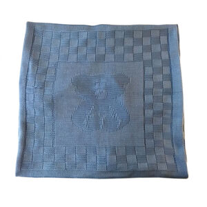 """Одеяло-плед вязанный """"Мишка"""", разм. 95*95, без наполнителя , без подкладки"""