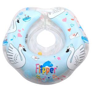 Надувной круг на шею для плавания с музыкой Roxy-Kids FLIPPER 0+ цвет голубой